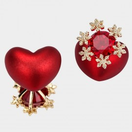 Caromay Blooming Heart Red Earrings (E5063)