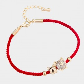 Caromay Piggy Family Red Bracelet (H0498)