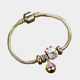 Caromay Fortune Cat Champagne-Gold Bracelet (H0584)