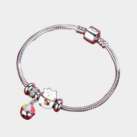 Caromay Fortune Cat Silver Bracelet (H0584)