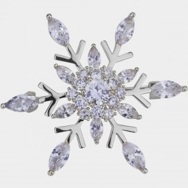 Caromay Blooming Snowflake Silver Brooch (T0492)