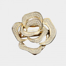 Caromay Forever Rose Champagne-Gold Brooch (T0493)
