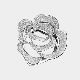 Caromay Forever Rose Silver Brooch (T0493)