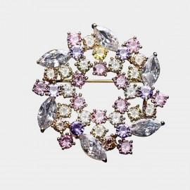 Caromay Crystal Wreath Multi Brooch (T0501)