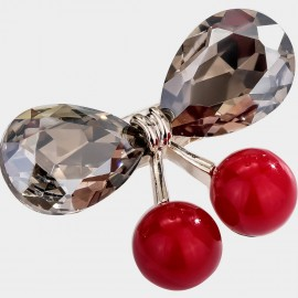 Caromay Crystal Cherry Grey Brooch (T0516)