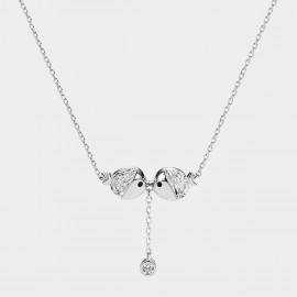 Caromay Kissing Fish Silver Necklace (X1835)