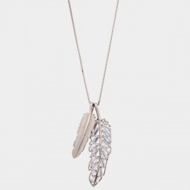 Caromay Floating Feather Gold Long Chain (X2158)