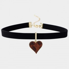 Caromay Solo Heart Red Choker Necklace (X2310)