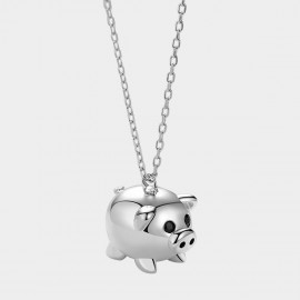 Caromay Fancy Pig Silver Necklace (X2358)