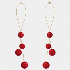 Caromay Shades Of Red Earrings (E5074)