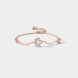 SEVENTY 6 Floating Maples Rose Gold Bracelet (3983)