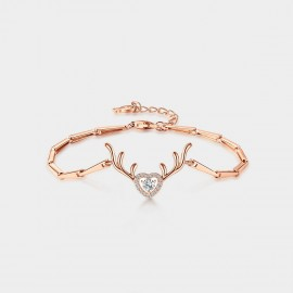 SEVENTY 6 All The Way Rose Gold Bracelet (3984)