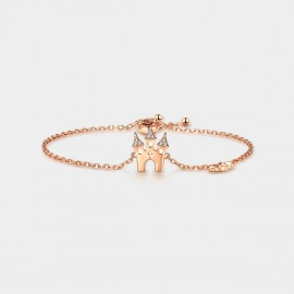 SEVENTY 6 Castle Rose Gold Bracelet (3987)