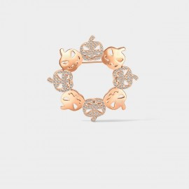 SEVENTY 6 Halloween Rose Gold Brooch (50006)