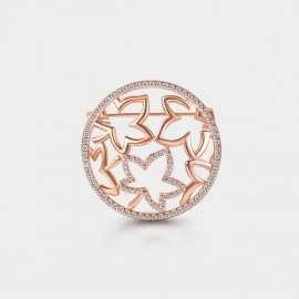 SEVENTY 6 Floating Maples Rose Gold Brooch (50010)