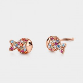 a74b4e3e8d07b SEVENTY 6 Clownfish Rainbow Stud Earrings (81073)