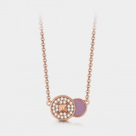 SEVENTY 6 Birth Chart Rose Gold Necklace (B2680)