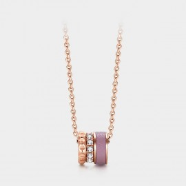 SEVENTY 6 Wheel Of Fortune Rose Gold Necklace (B2681)