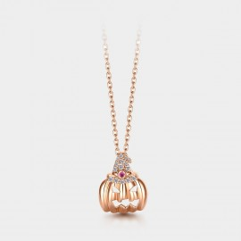 SEVENTY 6 Halloween Rose Gold Necklace (B2726)