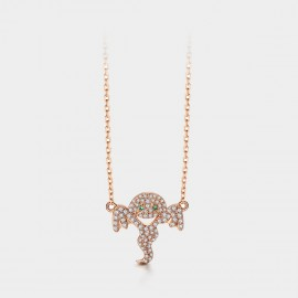 SEVENTY 6 Ghost Rose Gold Necklace (B2729)
