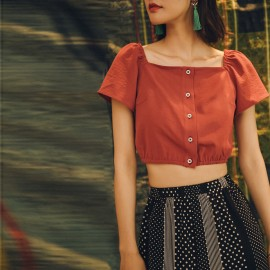 Isislove Crop Red Top (BL18010)