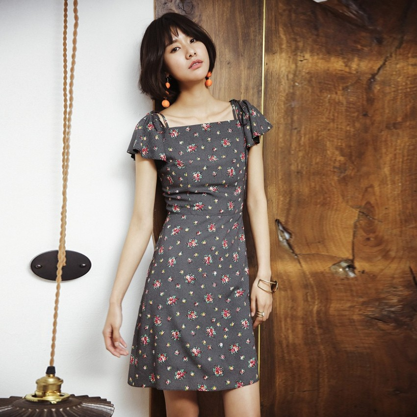 Buy Isislove Floral Grey Dress online, shop Isislove with free shipping