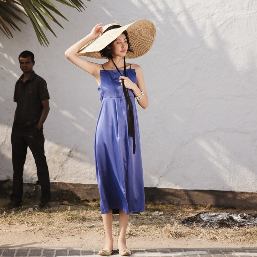 Buy Isislove Simple Blue Dress online, shop Isislove with free shipping