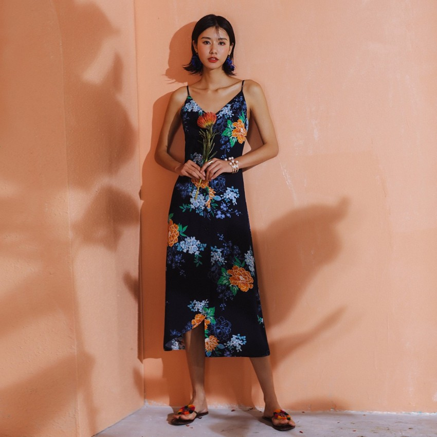 Buy Isislove Mystic Floral Navy Dress online, shop Isislove with free shipping