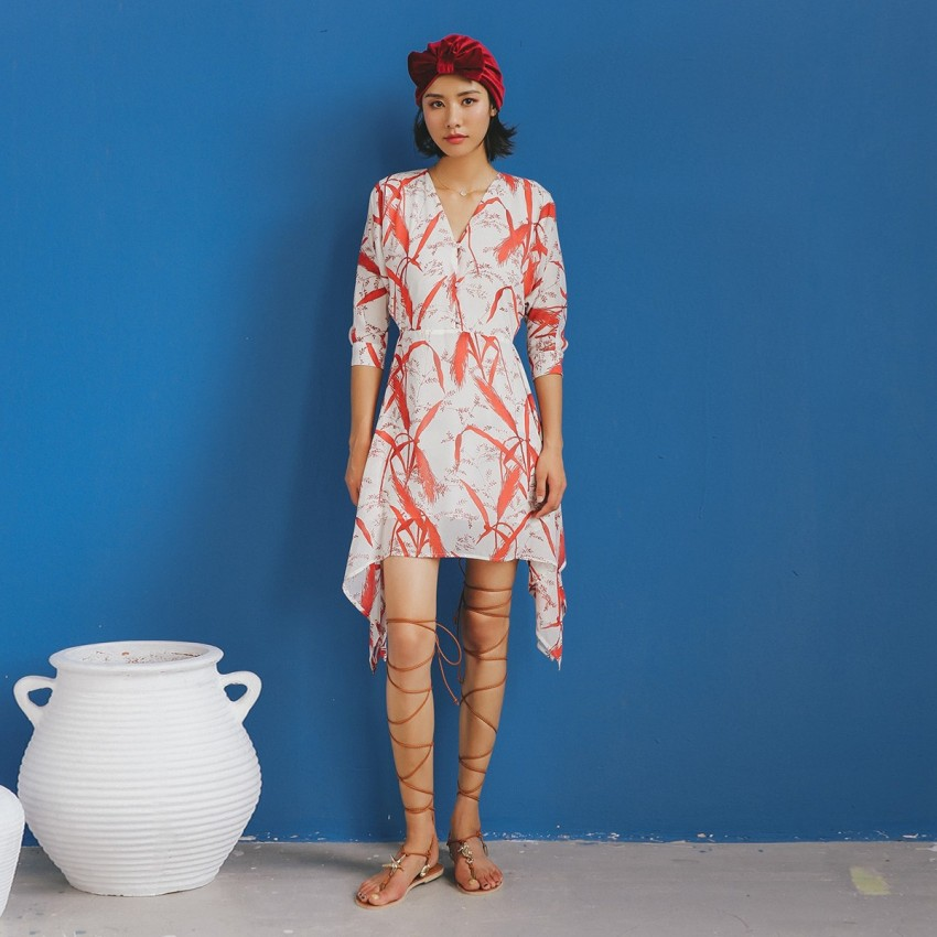 Buy Isislove Miscanthus White Dress online, shop Isislove with free shipping