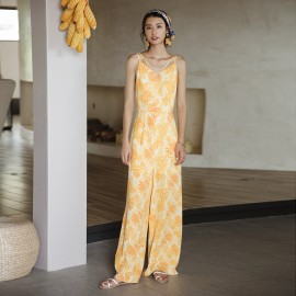 Isislove Golden Yellow Jumpsuit (DR17177)