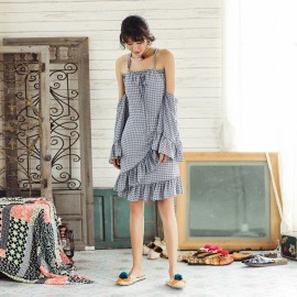 Isislove Layered Patterned Blue Dress (DR1780)