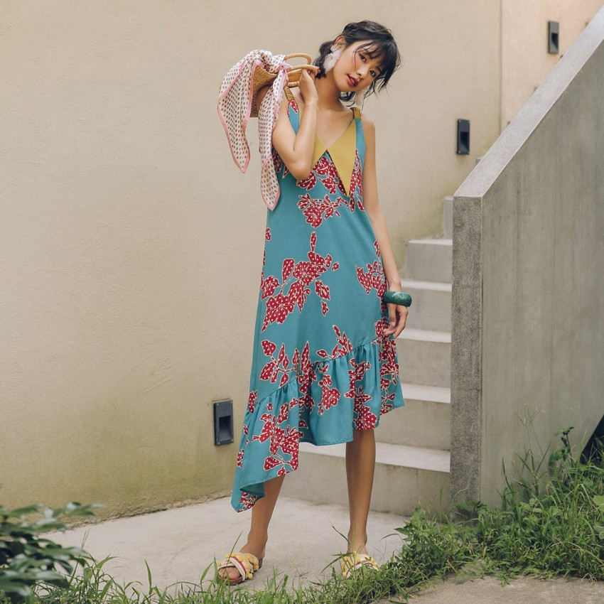Buy Isislove Collared Blue Dress online, shop Isislove with free shipping