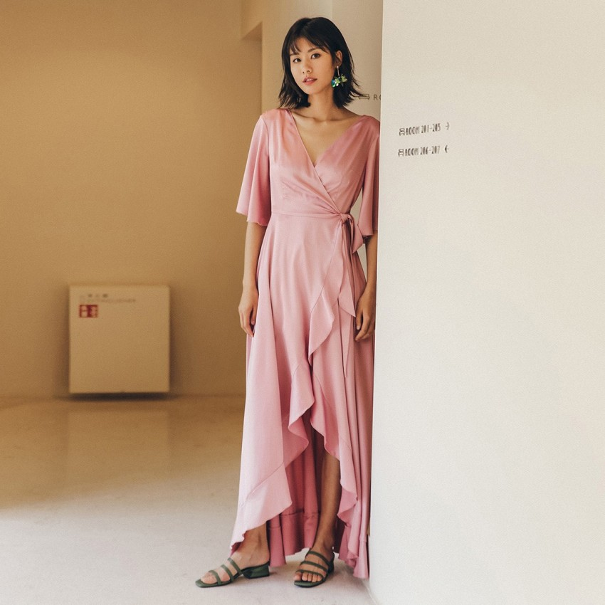 Buy Isislove Rosy Pink Dress online, shop Isislove with free shipping