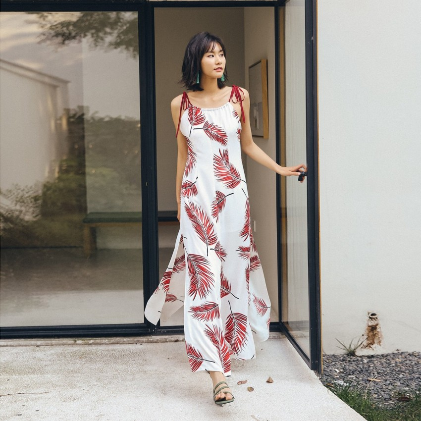 Buy Isislove Flowy White Dress online, shop Isislove with free shipping