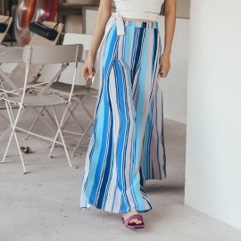 Isislove Stripe Blue Pants (PA18004)