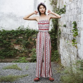 Isislove Oriental Red Jumpsuit (SE1708)