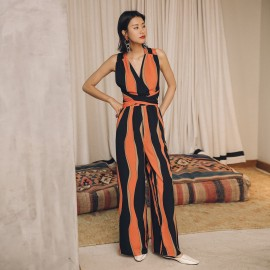 Isislove Contrast Orange Jumpsuit (SE1709)