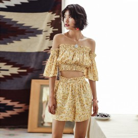 Isislove Off-The-Shoulder Golden Yellow Set (SE1726)