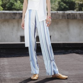 Isislove Stripe Sky Blue Pants (SE1736K)