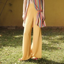 Isislove Bright High-Waist Yellow Pants (SE1749KZ)