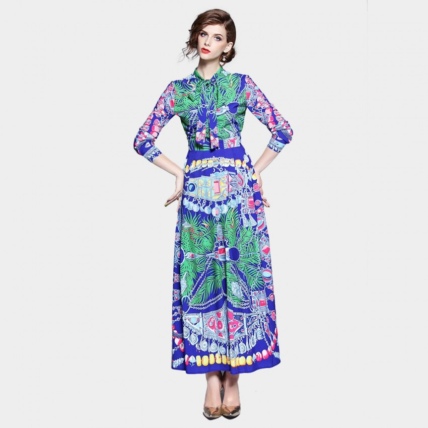 DZA Geometry Green Dress (7519)