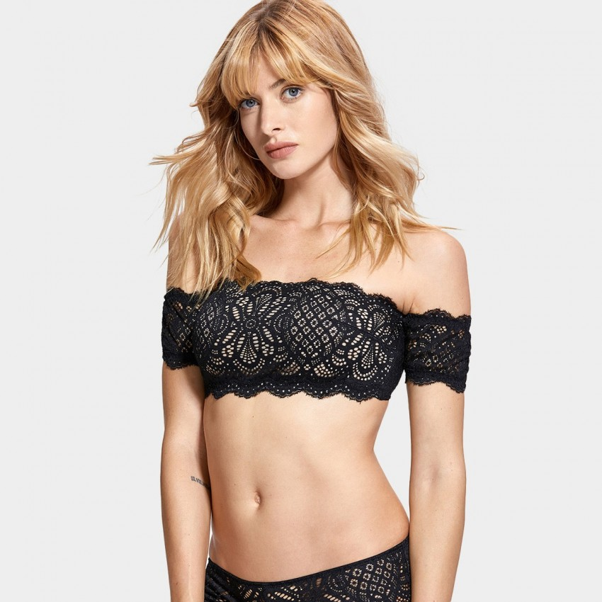 Dobreva Fascinate Lace Strapless Black Bra (F008)