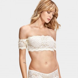 Dobreva Fascinate Lace Strapless Ivory Bra (F008)