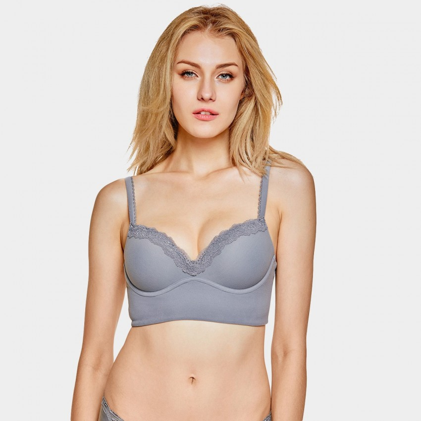 Dobreva Edge Of Glow Grey Bra (F020)