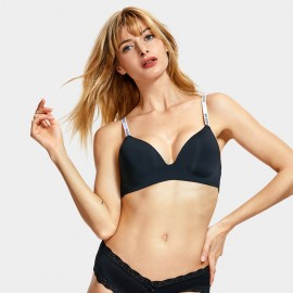 Dobreva Street Vibe Wireless Black Bra (F060)