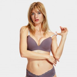 Dobreva Street Vibe Wireless Purple Bra (F060)