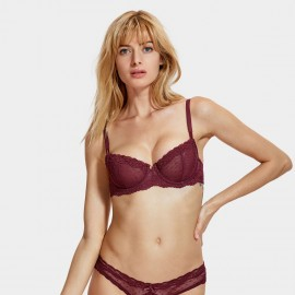 Dobreva Innocent Unlined Wine Red Bra (F081)