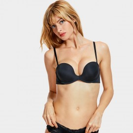 Dobreva Simplicity Smooth Black Bra (H312)