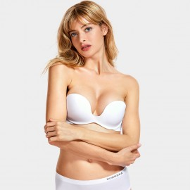 Dobreva Simplicity Smooth White Bra (H312)