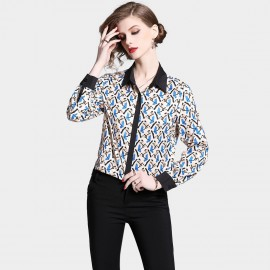 ZOFS Geometric Blue Shirt (5111)